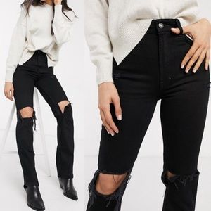 Free People High Rise Distressed Bootcut Jeans 31